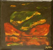 Abstrakt, Zeitgenössische malerei, Neutrale jeans, Naturtextilien