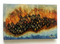 Gemälde, Realismus, Feuer, Zeitgenössische kunst