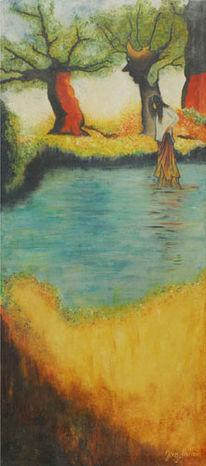 Baum, Stimmung, Freund, Malerei