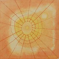 Loch, Spinnennetz, Abstrakt, Malerei