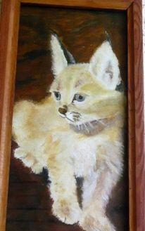 Ölmalerei, Luchs, Katze, Wildtiere