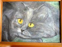 Ölmalerei, Katze, Haustier, Tiere