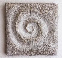 Skulptur, Schnecke, Relief, Zement