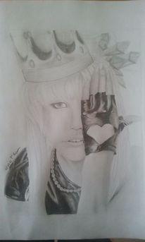 Portrait, Krone, Stern, Lady gaga