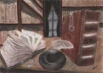 Buch, Zeichnung, Theateraufführung, Zeichenfeder