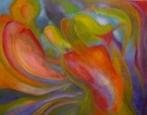 Fluss, Traumwelten, Farben und formen, Malerei