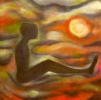 Traumwelt, Fluss, Farben und formen, Malerei