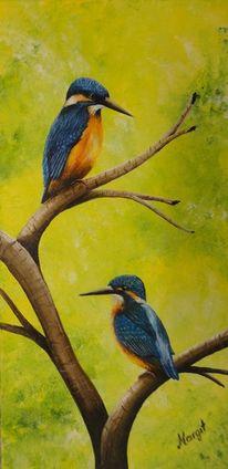 Eisvogel, Malerei, Tiere