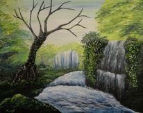 Türkei, Wasserfälle, Malerei, Pflanzen