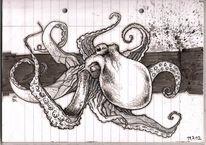 Tintenfisch, Malerei