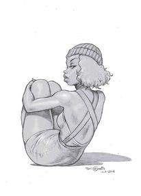Frau, Bleistiftzeichnung, Zeichnung, Zeichnungen