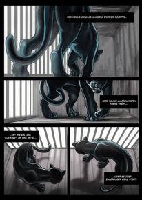 Rilke, Panther, Käfig, Comic