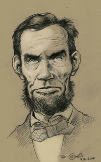 Lincoln, Portrait, Karikatur, Zeichnungen