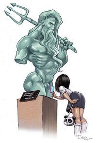 Poseidon, Statue, Illustrationen,