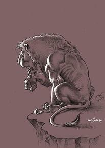 Bleistiftzeichnung, Löwe, Zeichnung, Zeichnungen
