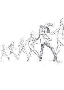 Bewegung, Zeichnung, Bleistiftzeichnung, Zeichnungen