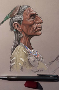 Indianer, Zeichnung, Illustrationen,