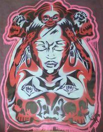 Artmaske, Streetart, Urban art, Schablonen graffiti