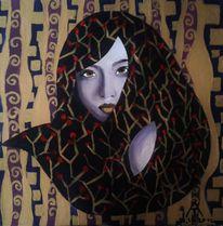 Portrait, Klimt, Jugendstil, Malerei