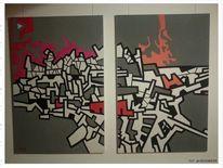 Acrylmalerei, Comic, Popart, Malerei