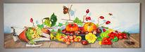 Acrylmalerei, Früchte, Stillleben, Gegenständlich