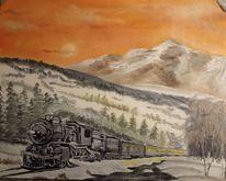 Zug, Dampflok, Malerei
