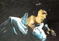 Portrait, Ölmalerei, Elvis presley, Malerei