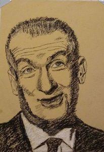 Schauspieler, Louis de funes, Frankreich, Malerei