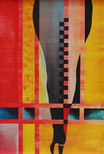 Feuer und eis, Schritt, Gegensatz, Malerei
