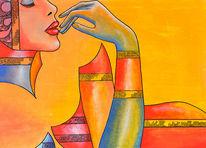 Verführung, Schönheit, Erotik, Malerei