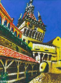 Altstadt, Burg, Siebenbürgen, Malerei