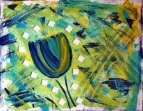 Abstrakt, Tulpen, Weiß, Mosaik