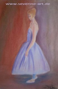 Figur, Pastellmalerei, Tanz, Ballett