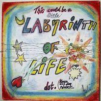 Labyrinth, Blumen, Stern, Punkt