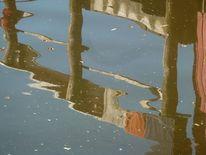 Teich, Bootshaus, Wasser, Spiegelung