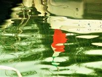 Spiegelung, Maderno, Farbkontraste, Hafen