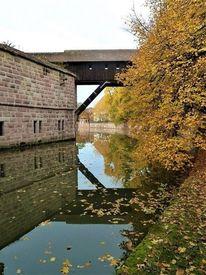 Landschaft, Stadt, Fluss, Nürnberg