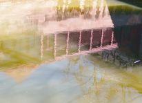 Fluss, Pegnitz, Farben, Spiegelung