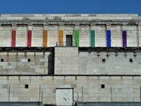 Farben, Steintribüne, Regenbogen, Künstlerische intervention
