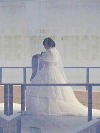 Braut, Raum, Kleid, Inszenierung
