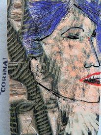Holzschnitt, Bearbeitung, Portrait, Druckstock