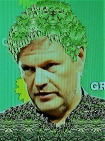 Gesicht, Grün, Menschen, Portrait