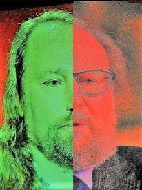Mann, Kontrast, Gesicht, Politische farbenlehre
