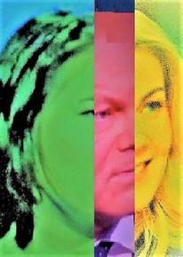Mann, Politische farbenlehre, Kopf, Frau