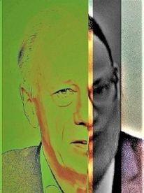 Gesicht, Grünschwarz, Menschen, Kopf