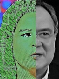 Mann, Politische farbenlehre, Frau, Grünschwarz