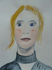 Frau, Portrait, Kopf, Menschen