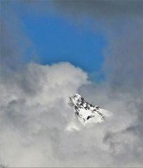 Berge, Himmel, Wolken, Schnee