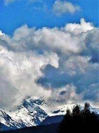 Seefeld, Berge, Wolken, Panorama