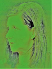 Frau, Profil, Portrait, Kopf
